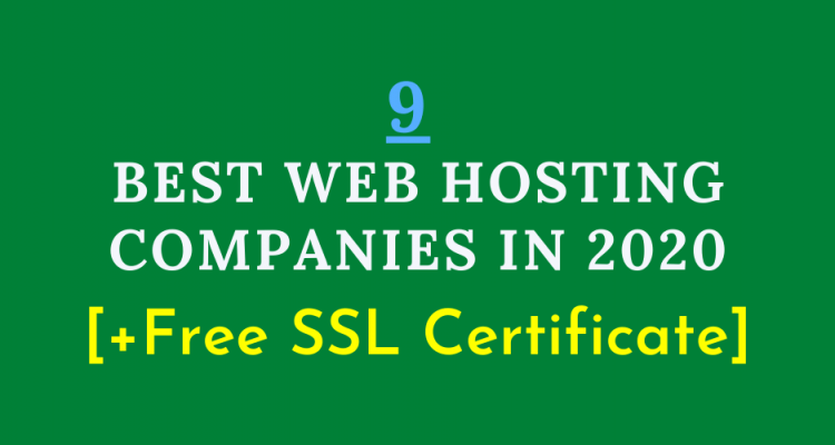 The best web hosting companies in 2020